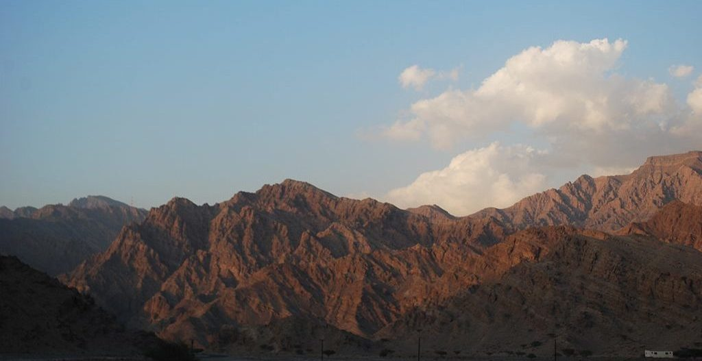 Hajar Mountains in Ras Al Khaimah