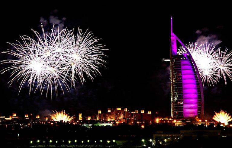 Fireworks Around Burj al Arab