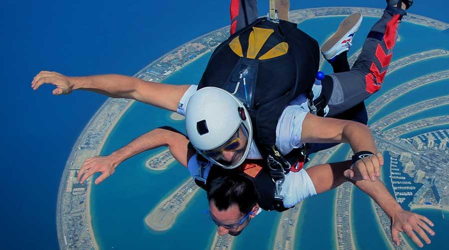 Sky Diving Dubai at Palm Jumeirah